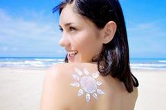 Eu tenho o sol em meus ombros fotos de stock royalty free
