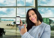 Eu tenho o wifi no aeroporto Fotos de Stock