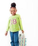 Eu tenho quatro anos velho e eu amo comprar Imagem de Stock Royalty Free