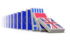 Eu threatens to fall apart Royalty Free Stock Photo
