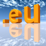 EU Top Level Domain. A computer generated 3D illustration vector illustration