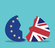 EU and UK egg Royalty Free Stock Image