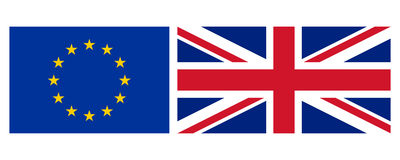 EU and UK flag Stock Images