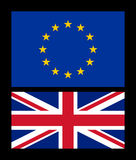 EU and UK flag Royalty Free Stock Photography