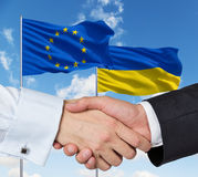 EU Ukrainian handshake Royalty Free Stock Photos