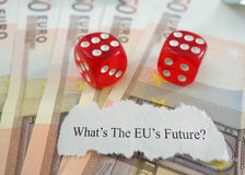 EU uncertain future Royalty Free Stock Images