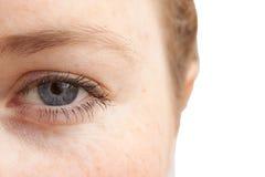 Eu ver a idéia - close up do olho dos womans Imagem de Stock Royalty Free
