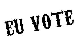 Eu Vote rubber stamp Royalty Free Stock Photography
