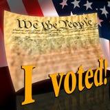 Eu votei ilustração stock