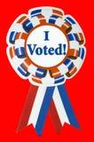 Eu votei a fita com trajeto de grampeamento Fotografia de Stock