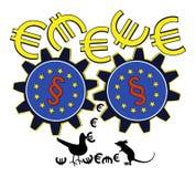 EU is wasting Money Stock Photos