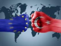 EU x Turkey Royalty Free Stock Photography