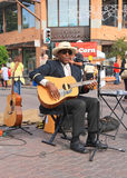 EUA, AZ/Tempe: Cantor, guitarrista Paul Miles Imagens de Stock Royalty Free