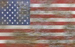 EUA, bandeira americana pintada na madeira velha fotos de stock