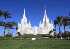 EUA, Califórnia, San Diego: Templo de mórmon Fotos de Stock Royalty Free