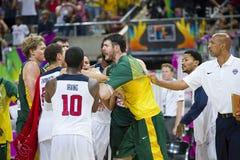 EUA contra Lituânia Foto de Stock Royalty Free