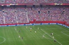 EUA contra o final de Japão no campeonato do mundo 2015 de FIFA Women's Imagem de Stock Royalty Free