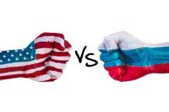 EUA contra Rússia imagem de stock royalty free