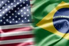 EUA e Brasil Foto de Stock