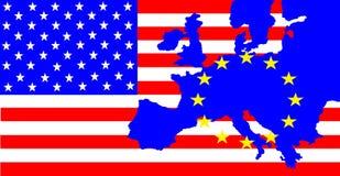 EUA e Europa ilustração royalty free