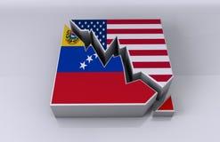 EUA e relações de negócio de venezuela Foto de Stock