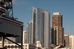 EUA, Estados Unidos, América, Califórnia, San Diego, cidade, do centro, de Coronado, península, baía, do centro, cais, skyline imagens de stock