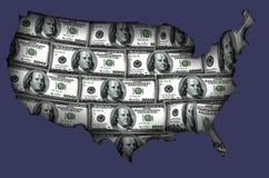 EUA feitos dos dólares Imagens de Stock Royalty Free