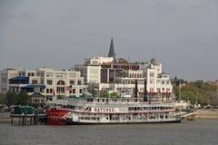 EUA, Louisiana, Nova Orleães - rio Mississípi Imagens de Stock Royalty Free