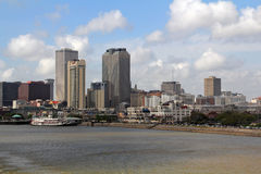 EUA, Louisiana, Nova Orleães - rio Mississípi Fotografia de Stock Royalty Free