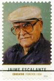 EUA - 2016: mostras Jaime Alfonso Escalante Gutierrez 1930-2010 Imagem de Stock