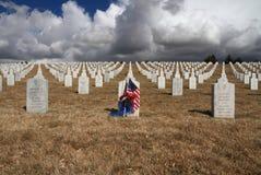 EUA, New mexico/Santa Fe: O cemitério nacional dos veteranos Fotos de Stock Royalty Free