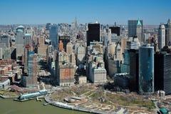 29 03 2007, EUA, New York: Vistas de Manhattan do helicopte Imagem de Stock