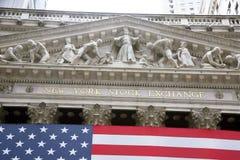EUA, New York, Wallstreet, troca conservada em estoque imagem de stock