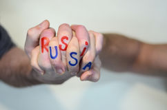 EUA & Rússia imagem de stock royalty free