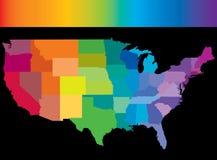 EUA rainbow.jpg ilustração do vetor