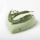Eucalyptus bath bomb on a white Royalty Free Stock Photography