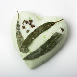 Eucalyptus bath bomb on a white. Background Stock Image