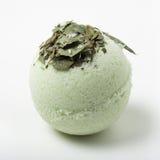 Eucalyptus bath bomb on a white Royalty Free Stock Image