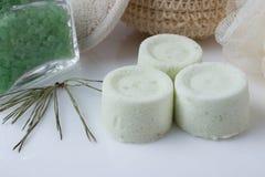 Eucalyptus bath bomb on a white Stock Images
