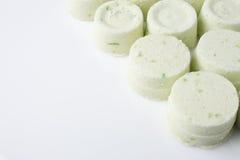 Eucalyptus bath bomb on a white Stock Image
