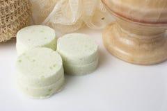 Eucalyptus bath bomb on a white Royalty Free Stock Images