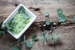 Eucalyptus bath salt Stock Photo