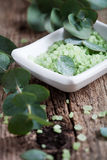 Eucalyptus bath salt Stock Photo