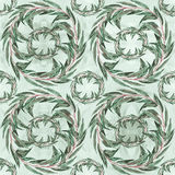 Eucalyptus -  leaves, medicinal, perfumery and cosmetic plants. Watercolor. Seamless pattern. Stock Photography