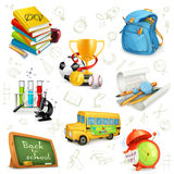 Eucation and knowledge icons Royalty Free Stock Photography