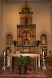 Eucharist Alter with Candles Stock Image