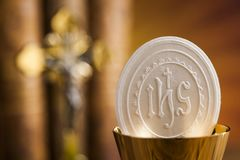 Eucharist, sacrament of communion background royalty free stock photography