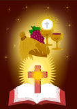 The eucharist sacraments. The seven sacraments in catholic church Illustration Vector Stock Photos