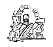 Eucharist shared Bread stock illustration
