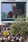 Eucharistic välsignelse av påven Francis Arkivbilder